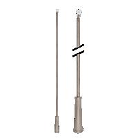 """36"""" Baton with Plastic Attachment /RTA"""