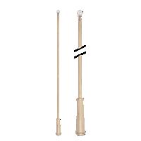 """36"""" Baton with Plastic Attachment /STG"""