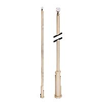 """36"""" Baton with Plastic Attachment /SL"""