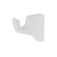 "1 3/8"" Flushmount Single Bracket, 3 1/2"" Return /WH"