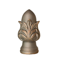 "2"" Crowned Acorn Finial /AP"