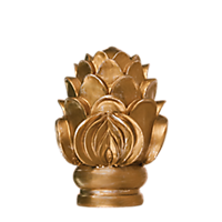 "2"" Royal Crest Finial /RG"
