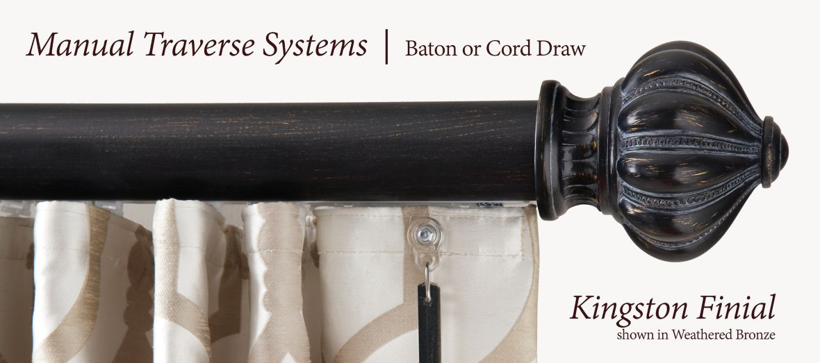 Manual Traverse Systems Baton or Cord Draw