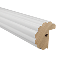 "2"" Fluted Fascia 4' Baton Draw /WH"