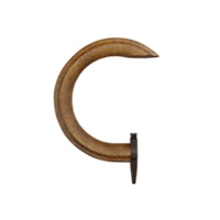 """1-3/8"""" C-Ring Assembly with Brown Roller Carrier Pendant"""