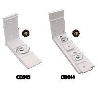 R-TRAC Cord Draw System Wall Brackets