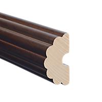 "1 3/8"" Fluted Fascia 12 Ft  /Es"
