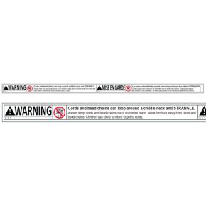 Bottom Rail Generic Warning Label - Canada