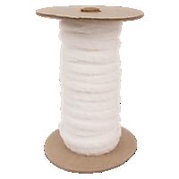 Elastic Loop Tape, 1/4'', White, Sew-On, 25 Yards