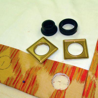 Drapery with Square EZ-Set Grommets