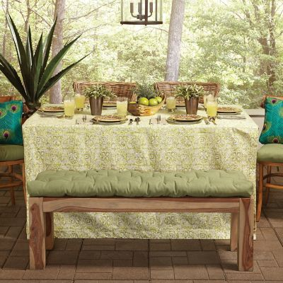 Outdoor Bench & Chair Cushions with Center Tufting