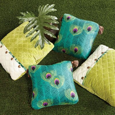 Unique Pillows with Nailhead/button Trim & Turkish Pillows with Corner Tassels