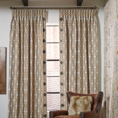 Pinch Pleat Panels with Grommet Accented Leading Edge