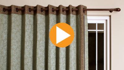 Grommet Panel for a Sliding Door