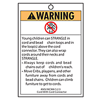 Safety Warning Tag - Cord With Cord Connector