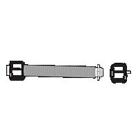 Spring & End Plug for 1'' Roller