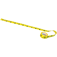 Sticky-Back Paper Tape Measure