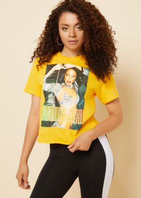 Yellow Animal Print Aaliyah Graphic Tee Graphic Tees Rue21