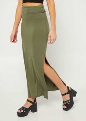 olive-side-slit-maxi-skirt by rue21