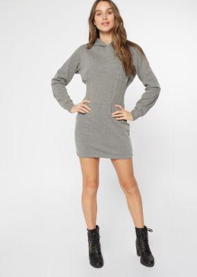 gray corset hoodie dress  casual dresses  rue21