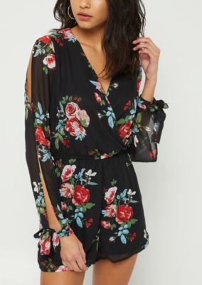 3a5e22ac1ada black-floral-print-long-sleeve-chiffon-romper by rue21