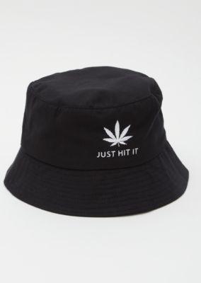 b40238cb549 Black Weed Print Just Hit It Bucket Hat