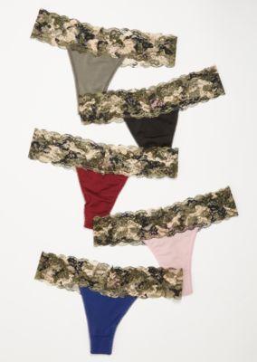 a7495d44890f 5-Pack Camo Print Lace Thong Undies Set | Thongs | rue21