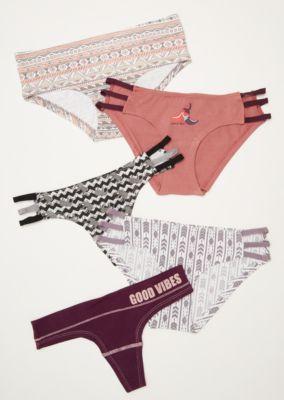 7c317f0c196c 5-Pack Multi Good Vibes Assorted Undies Set | Bikinis | rue21