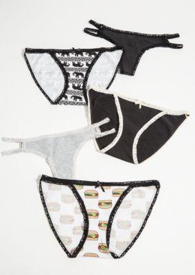 0e6cf7aefe7b 5-Pack Black Elephant Assorted Undies Set | Bikinis | rue21