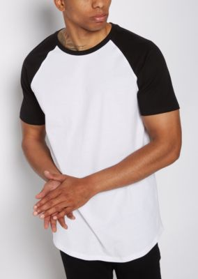 black-colorblock-raglan-sleeve-tee by rue21