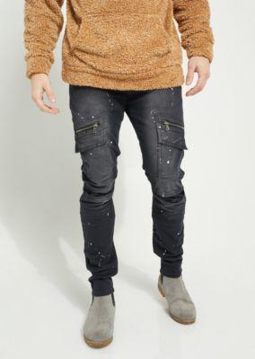 flex-paint-splattered-moto-skinny-pants by rue21