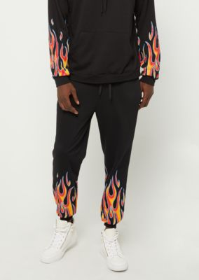 incredible prices great variety models new & pre-owned designer Black Flame Print Soft Knit Joggers | Joggers | rue21