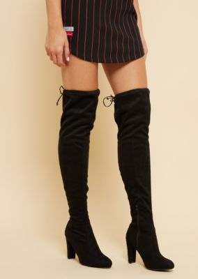 aa965f45870 black-faux-suede-thigh-high-boots by rue21
