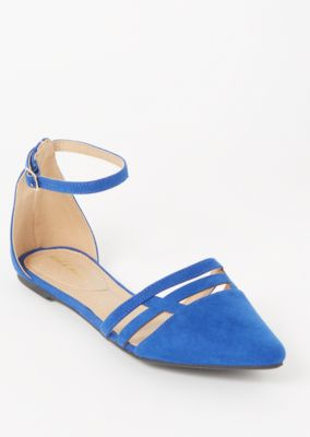 Blue Faux Suede Cutout Toe Flats by Rue21