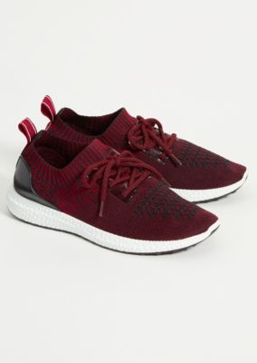Dark Red Space Dye Knit Sneakers by Rue21