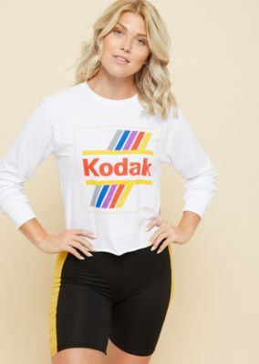 white-raw-edge-kodak-long-sleeve-skimmer-tee by rue21
