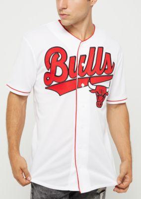 NBA Chicago Bulls White Button Down Top  63801f12d624
