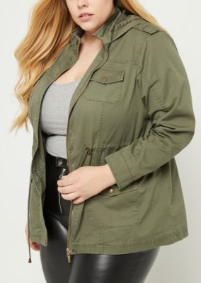 Olive green jacket rue 21
