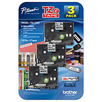 Brother P-Touch - Label Tape Assorted Pack - (2) TZe231 & (1) TZe221 [CLUB]