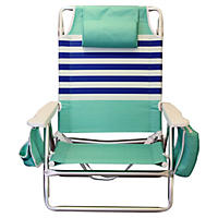 Mint and Blue Stripe Beach Chair