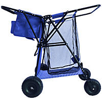 Multipurpose Utility Cart, Blue Gingham