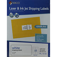 Laser/Inkjet Shipping  Label, 2x4 1250 Count