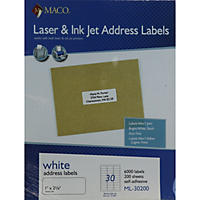 Maco Laser/Inkjet Address Labels 1 X 2-5/8