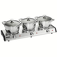 Tramontina 7-Piece Triple-Hob Electric Buffet Warmer