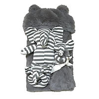 bon bébé Plush Gray Elephant Newborn Gift Set (4 pc.)