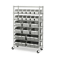 Member's Mark Commercial Bin Rack w/ Wheels - 22 Bins