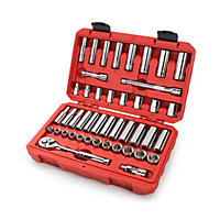 TEKTON 45-pc. 3/8 in. Drive Socket Set (5/16-3/4 in., 8-19 mm)
