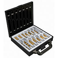 Tool House 105-Piece Drill Bit Set, Black