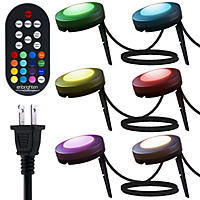 Enbrighten Seasons LED Color-Changing Landscape Lights 6 Pucks, 50ft.