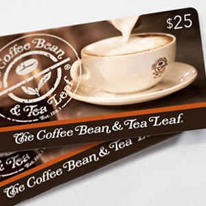 Coffee Bean And Tea Leaf 25 Gift Cards 2 Pack